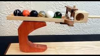 Simple woodworking project to replicate, rolling ball sculpture.