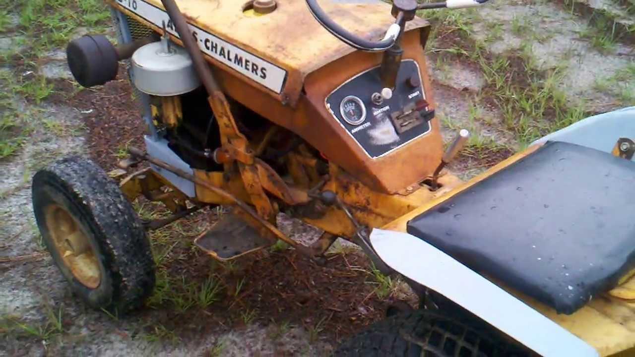 Allis Chalmers B-10 Garden tractor. - YouTube