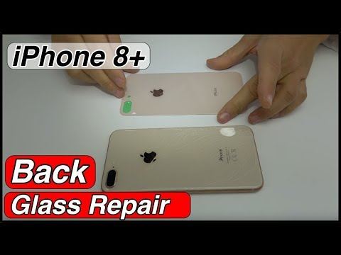 iPhone 8 Plus back glass with frame replacement