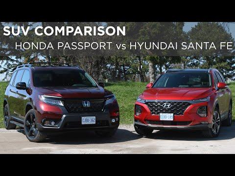2019 Honda Passport vs 2019 Hyundai Santa Fe   SUV Comparison   Driving.ca