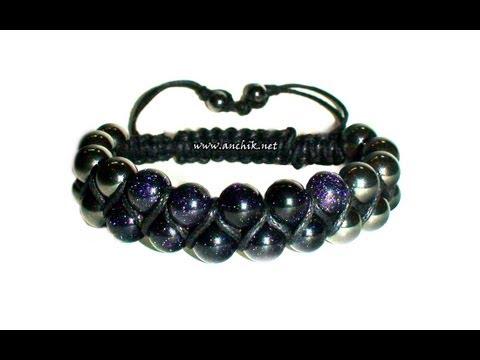 Смотреть онлайн Tutorial Double Shamballa Bracelet / Двойной браслет ШАМБАЛА