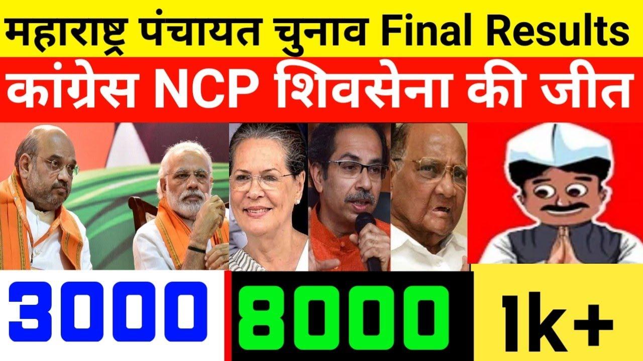 Maharashtra Panchayat Election Final Results 2021: कांग्रेस NCP शिवसेना की जीत