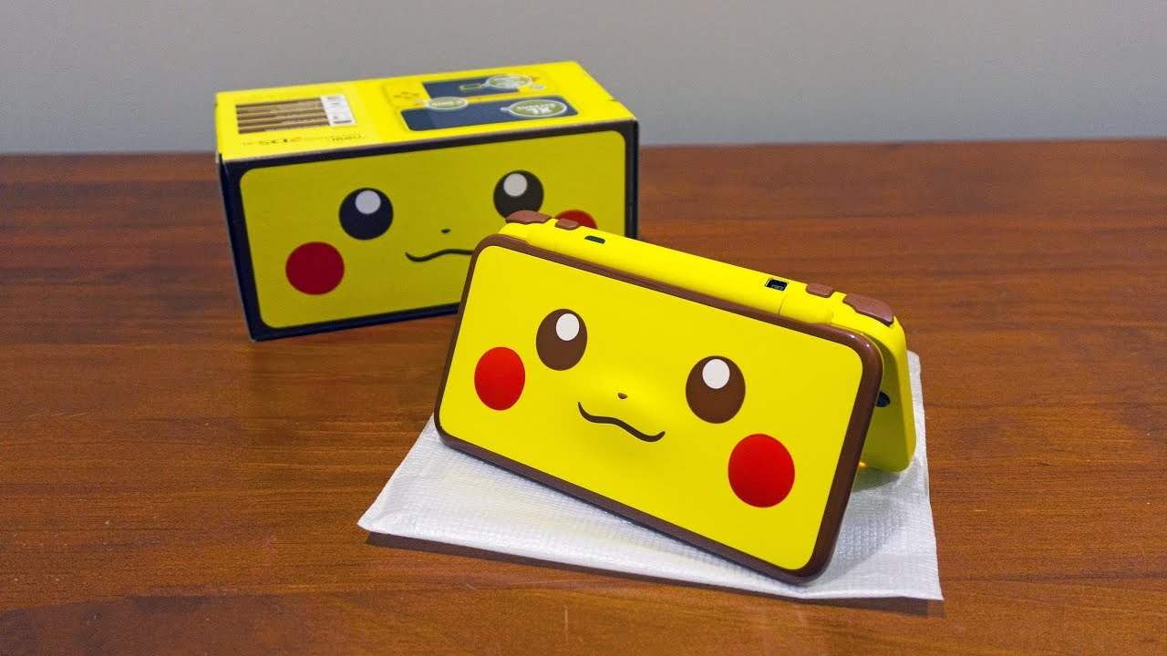 Nintendo Pikachu New 2ds Xl Unboxing And First Look Youtube