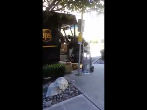 Angry UPS driver making delivery to my building !