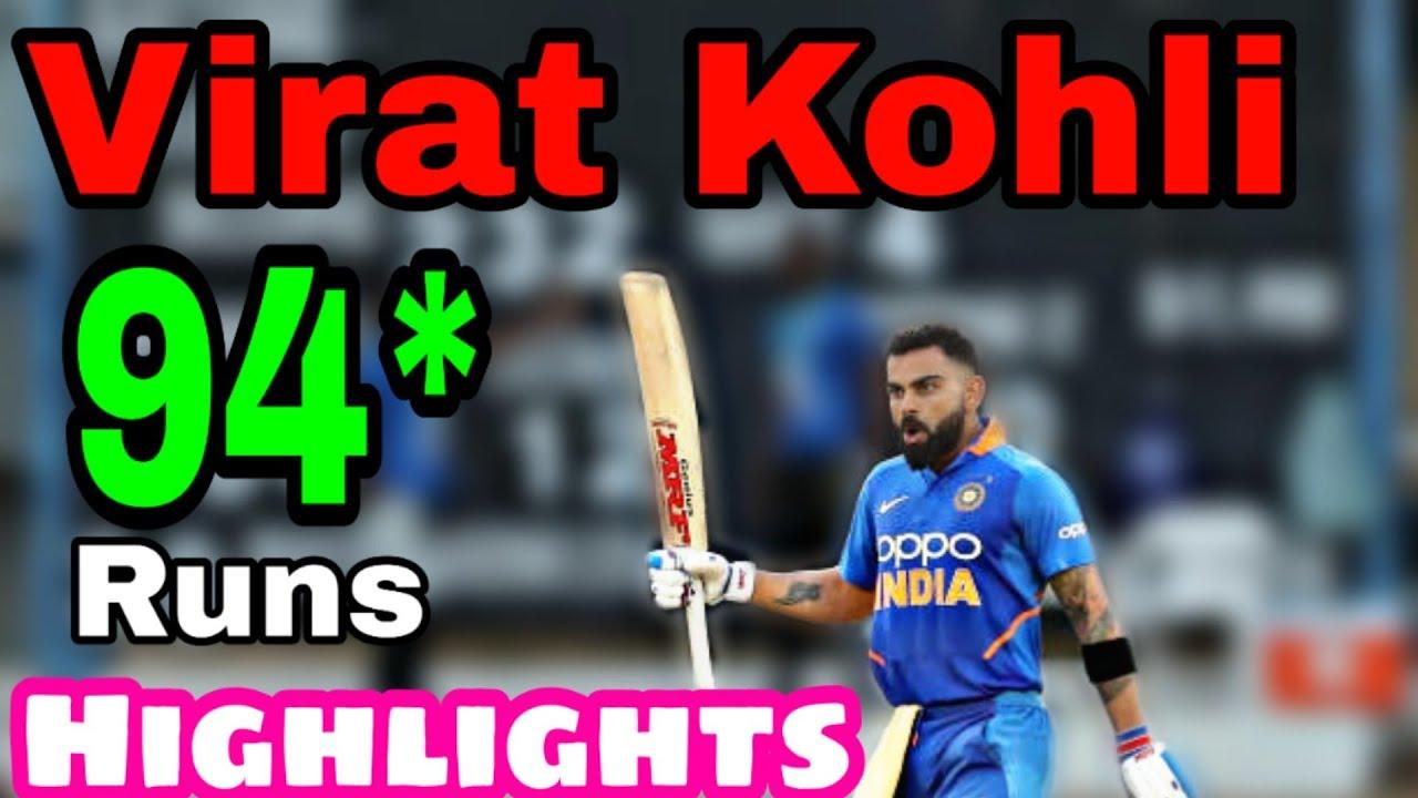 Virat Kohli 94 Runs Vs West Indies Full Highlights Virat Kohli Half Century Today
