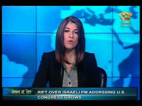 English News at ten in Jordan Television 25-01-2015