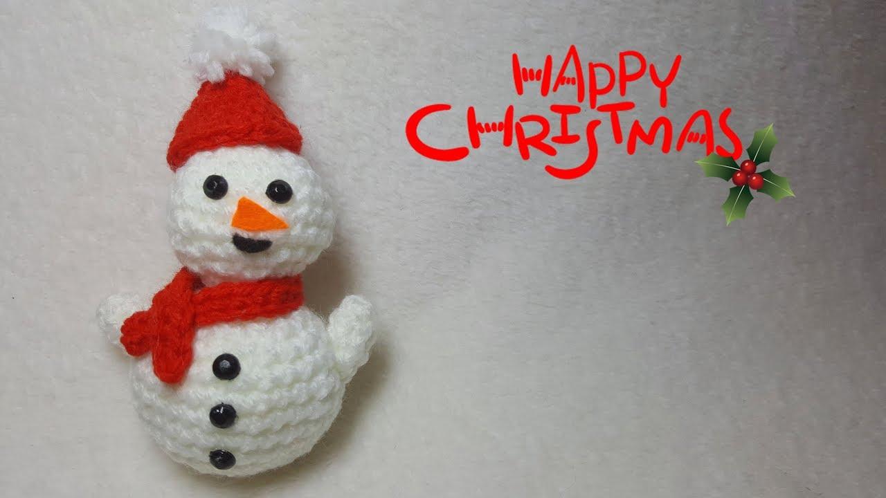 Pupazzo Di Neve Alluncinetto Amigurumi Crochet Snowman