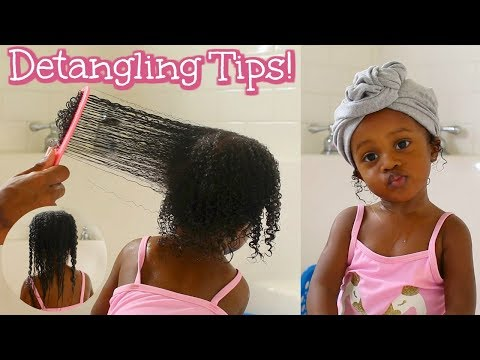 Toddler Curly Hair Wash Routine! Painless & Easy Detangling!