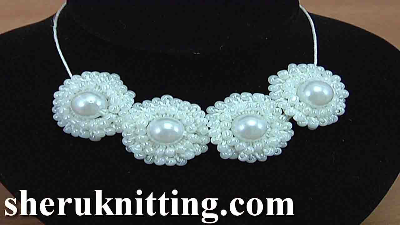How to crochet ring necklace tutorial 148 crochet jewelry video.