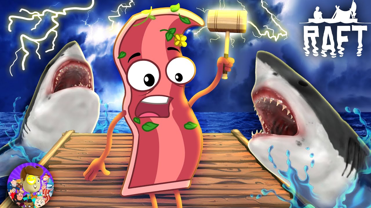 Download SHARKS ARE AFTER THE BACON! Derpy Survives on a RAFT (And Gets Thor's Hammer!)