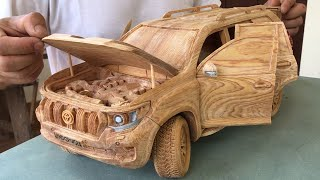 Wood Carving - Toyota PRADO Land Cruiser 2020 - Woodworking Art
