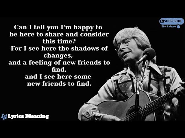 John Denver - Starwood In Aspen | Lyrics Meaning Chords ...