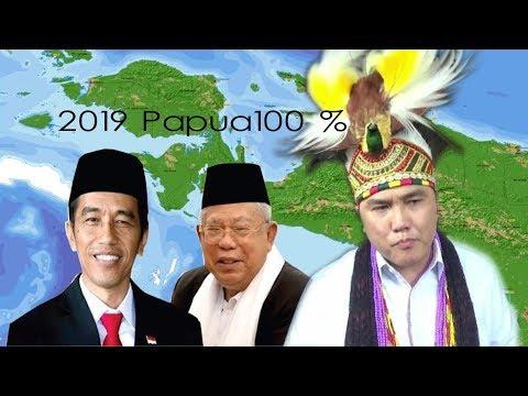PAPUA 2019 JOKOWI MARUF 100 % LANJUTKAN