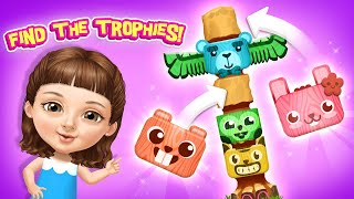 Find Trophies! Sweet Baby Girl Summer Camp | TutoTOONS Cartoons, Puzzles & Attention Games for Kids