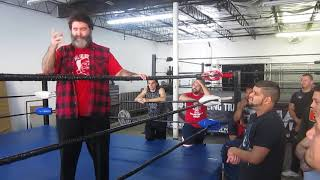 Pablo Marquez Welcomes WWE Mick Foley who Talks Getting  Over to Main Event Training Center students