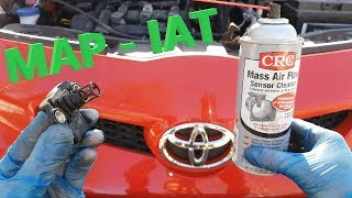 Toyota Aygo 1 0 Mass Air Flow sensor cleaning P0171   MAP   IAT