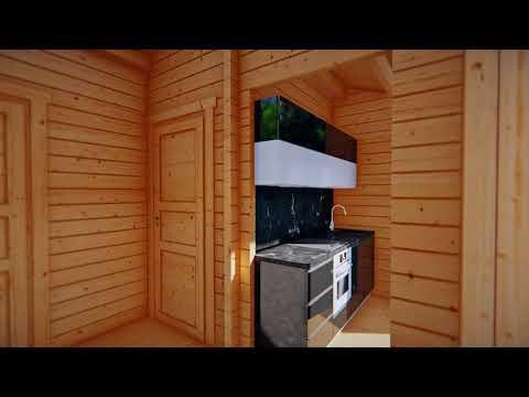 Blockhaus U201eSchweden Cu201c Mit Einem Schlafzimmer 22m2 / 6 X 4 M / 70mm
