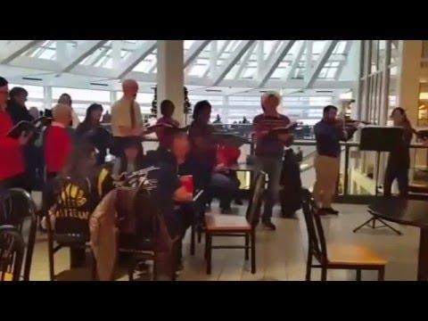 Hallelujah Chorus at 5th Ave Mall Food Court, Anchorage Alaska, Dec 2015