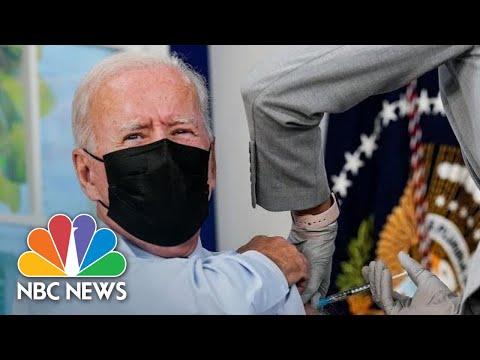 Watch: Biden Receives Covid Booster Shot