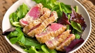 Recipe for Seared Tuna Crusted with Wasabi and Sesame Seeds