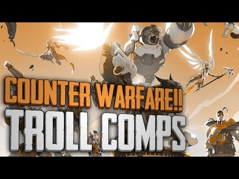 Overwatch - COUNTER WARFARE!! |ALL SAME HEROES| - Troll Comp Gameplay
