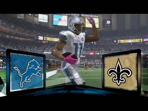 Madden NFL 17 Detroit Lions Franchise  Year 2 Game 4 at New Orleans Saints