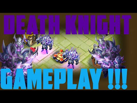 #141 Death Knight Gameplay - Hero In Action! (Castle Clash)