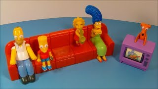 2008 THE SIMPSONS COUCH-A-BUNGA SET OF 6 BURGER KING KID