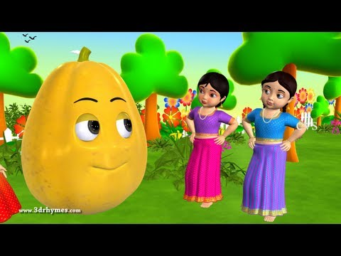 Learn Telugu Pandlu - Fruits - 3D Animation Preschool Telugu rhymes for children