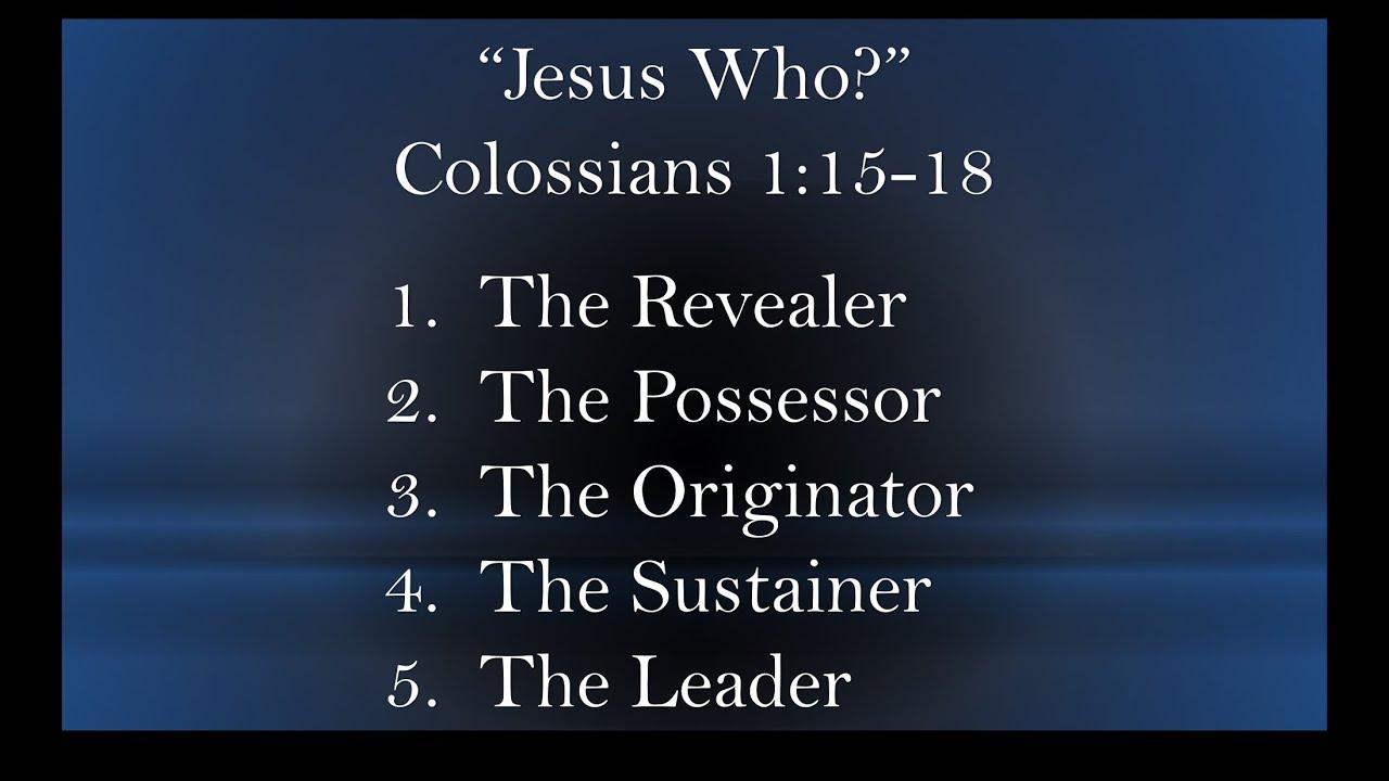 """""""Jesus Who?"""""""