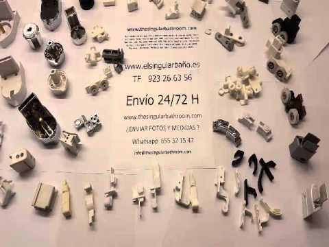 Piezas de mamparas de ducha y ba o plasticos mamparas for Puertas para piezas