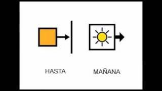 CANCIÓN CON PICTOGRAMAS .HASTA MAÑANA