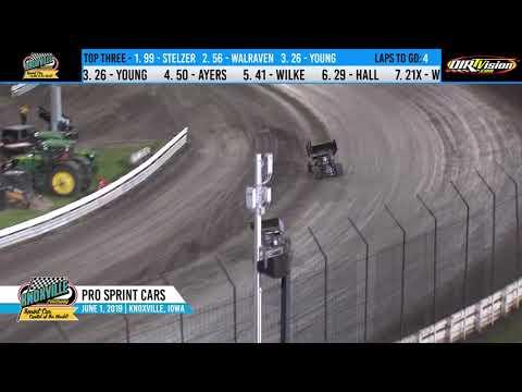 Knoxville Raceway Pro Sprints Highlights - June 1, 2019