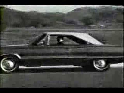 1967 Dodge White Hat Special Coronet Commercial Pam Austin