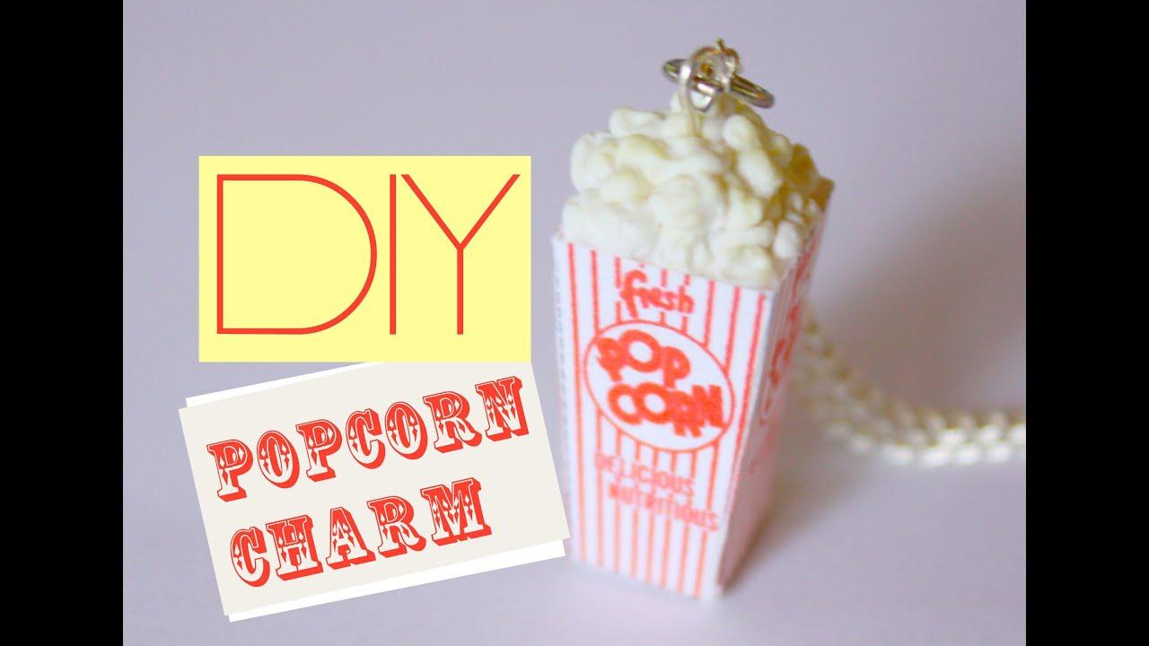 Popcorn Box Charm Polymer Clay Miniature Food Jewelry