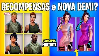 FORTNITE Concepts-NEW BEGINNERS CHALLENGES and STYLES SKIN DEMI?