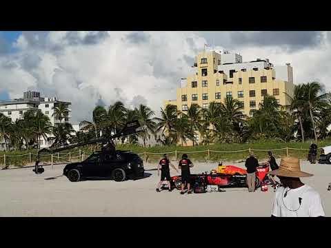 Red Bull F1 Miami Ocean drive backstage