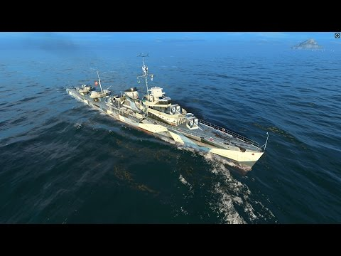 World of Warships - Gnevny Tier 5 Russian Destroyer Overview