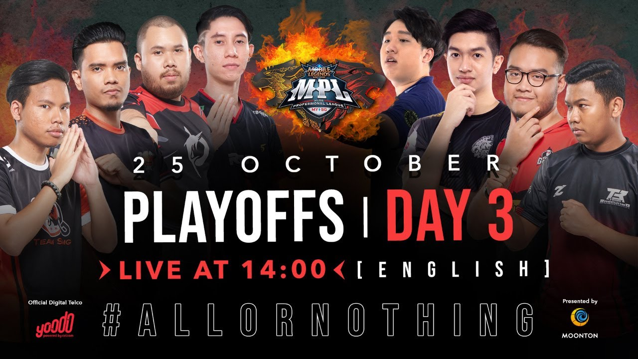 Live Now: MPL-MY/SG Season 6 | Playoffs Day 3