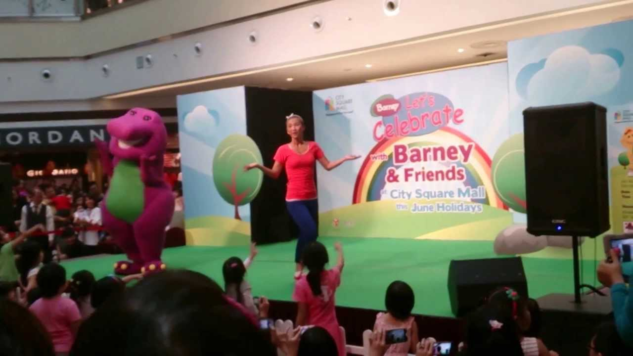 Barney Song At City Square Mall Singapore Youtube