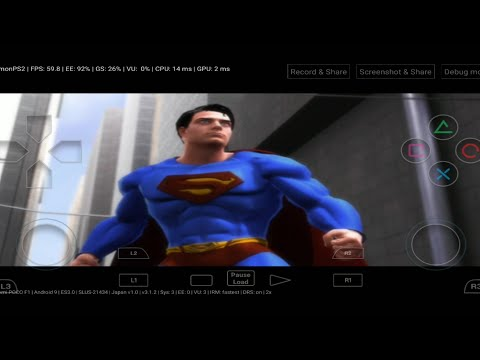 Superman Returns Ps2 Gameplay On Android Mobile With Damon Ps2 Pro Emulator