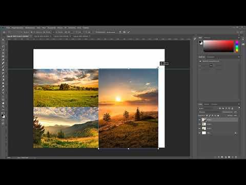 Как соединить несколько изображений в одно в фотошопе. Самый быстрый способ как склеить фотографии.