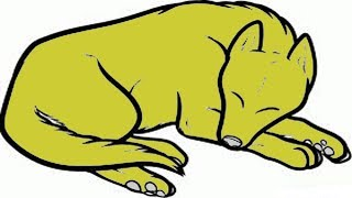 Coloring Pages-How to Draw a Sleeping Dog - zaman canvas