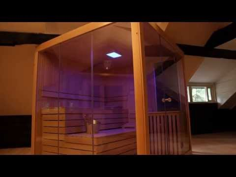 azalp moderne sauna prisma lumen youtube. Black Bedroom Furniture Sets. Home Design Ideas