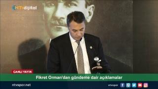 CANLI - Fikret Orman, Beşiktaş Divan Kurulu'nda açıklamalar yapıyor