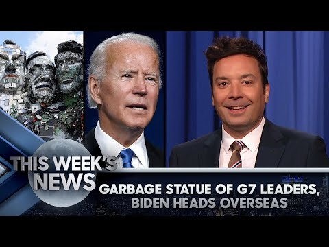 Garbage Statue of G7 Leaders, Biden's First Overseas Trip as POTUS: This Week's News | Tonight Show