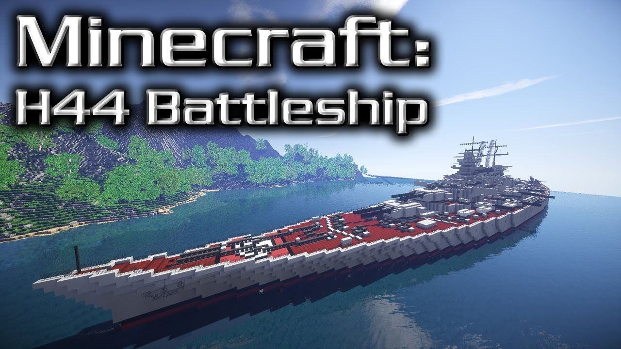 Minecraft: Super Battleship Tutorial (H44) - YouTube
