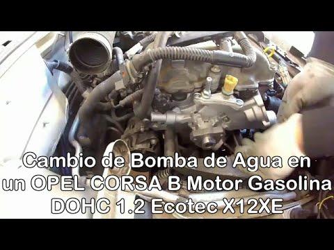 Cambio de bomba de agua motor 1 2 ecotec x12xe de un for Cambiar bomba de agua
