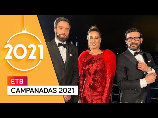 Campanadas ETB 2021 con Sara Gandara, Zuhaitz Gurrutxaga y Mikel Pagadi