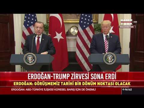 ABD Başkanı Trump ve Cumhurbaşkanı Erdoğan'ın basın toplantısı